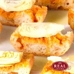 Bruschetta de Alcachofra na Baguete Tradition