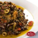 Caponata - Com berinjela, nozes, uva-passa, azeitona, ervas e azeite
