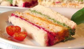 Receita: Sanduíche Tricolor