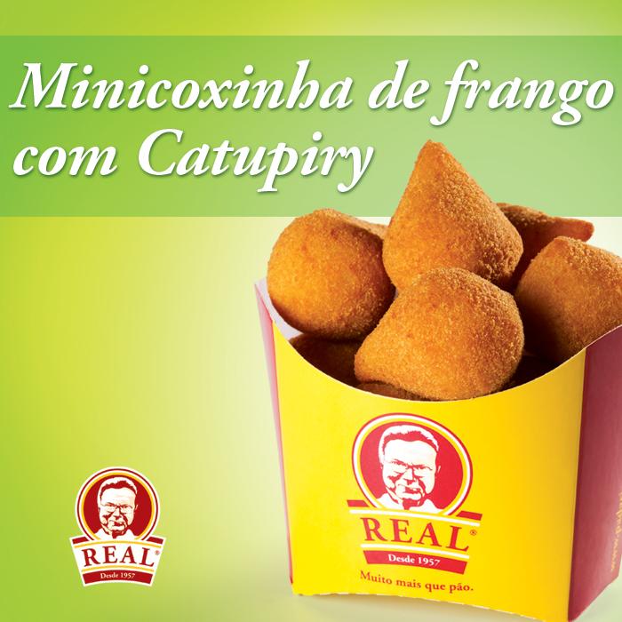 Padaria Real_Minicoxinha de frango com Catupiry