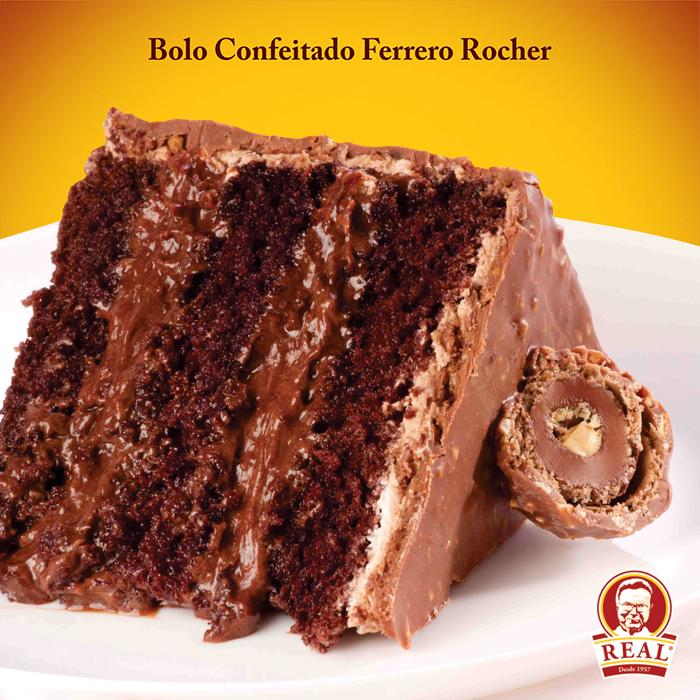 Bolo Confeitado Real Ferrero Rocher
