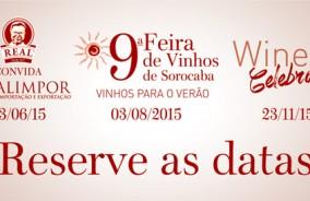 Agenda do Vinho. Reserve as datas.