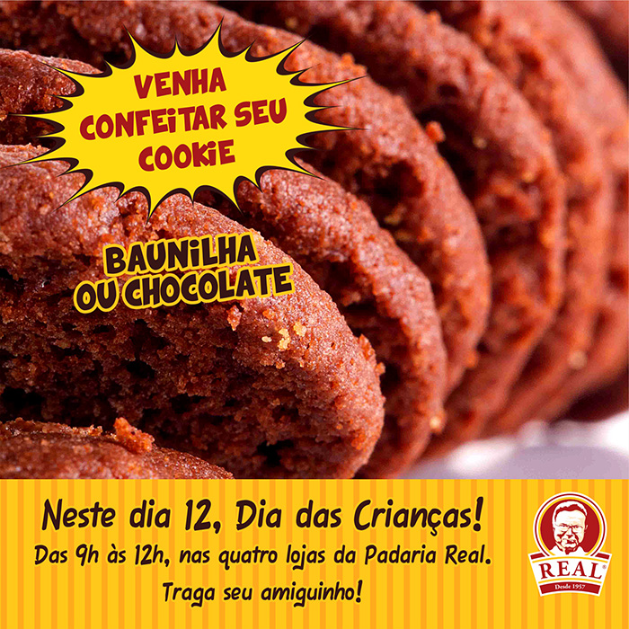 Cookies Turminha Real_Padaria Real_Chocolate_Padaria Real