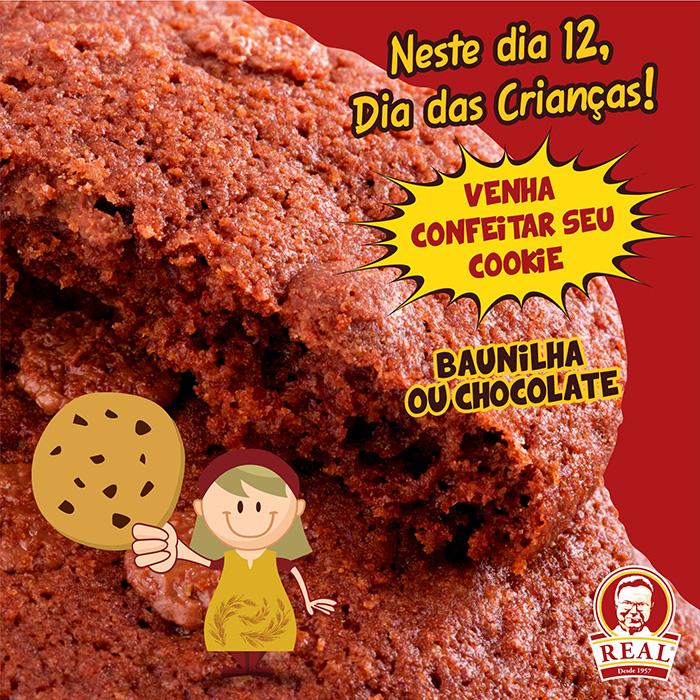 Cookies Turminha Real_Padaria Real_Chocolate_Xuzazete_Padaria Real
