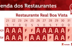 Confraternize no Restaurante Real Boa Vista