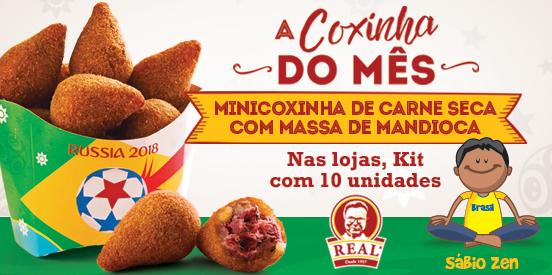 Coxinha do mês: carne seca com mandioca, na versão mini!