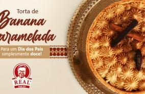Torta de banana caramelada: especial para o Dia dos Pais!