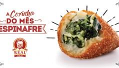 A coxinha do mês: Espinafre